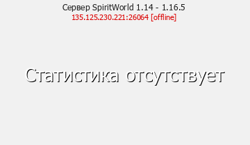 Сервер Minecraft SpiritWorld 1.14 - 1.16.5