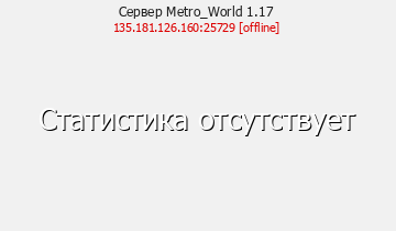 Сервер Minecraft Metro_World 1.12 - 1.16.5