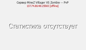 Сервер Minecraft MineZ Villager VS Zombie -- PvP