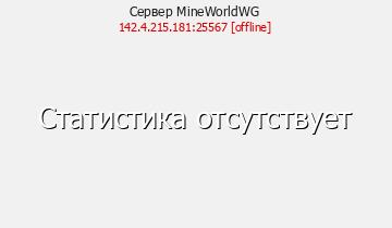Сервер MineWorldWG[1.7.2-1.8]
