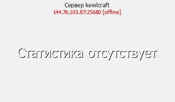 Сервер Minecraft kewlcraft