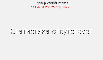 Статистика Сервера WorldDreams