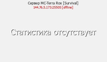 Сервер Minecraft MC-Terra Rox [Survival]