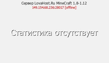 Сервер LovaHost.Ru MineCraft 1.8-1.12