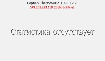 Сервер Minecraft CherryWorld 1.7-1.12.2