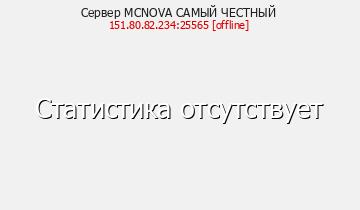 Сервер Minecraft MCNOVA САМЫЙ ЧЕСТНЫЙ