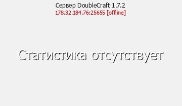 Статистика Сервера DoubleCraft 1.7.2