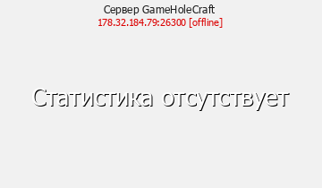 Статистика Сервера GameHoleCraft