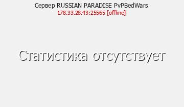 Статистика Сервера RUSSIAN PARADISE 1.5.2