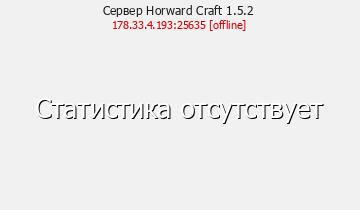 Сервер Horward Craft 1.5.2