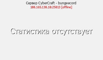 Статистика Сервера CyberCraft - bungeecord