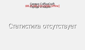 Сервер CoffeeCraft Города и Нации
