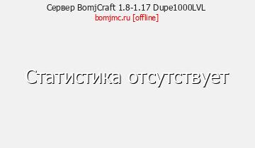 Сервер Minecraft BomjCraft 1.8-1.16 Dupe1000LVL