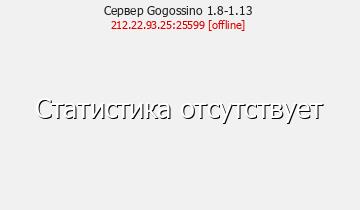 Сервер Minecraft Gogossino 1.8-1.12.2