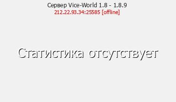 Сервер Minecraft Vice-World 1.8 - 1.8.9
