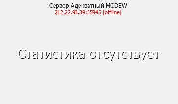 Сервер Minecraft Адекватный MCDEW