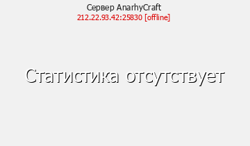 Сервер Minecraft AnarhyCraft