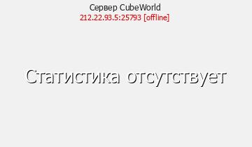 Сервер СubeWorld