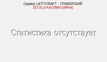 Сервер Minecraft LATTYCRAFT - ГРИФЕРСКИЙ