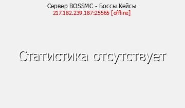 Сервер Minecraft BOSSMC - Боссы Кейсы