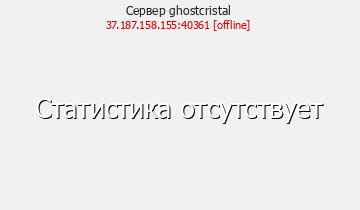 Сервер Ghost Cristal
