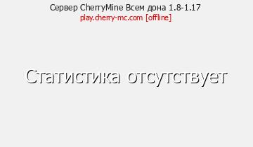 Сервер Minecraft CherryMine Всем донат 1.8-1.16