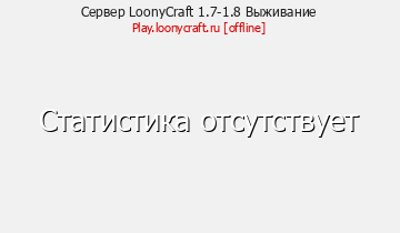 Сервер Minecraft LoonyCraft 1.7-1.8 Выживание