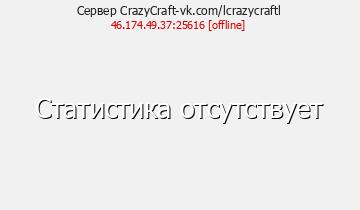 Статистика Сервера CrazyCraft