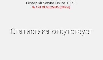 Сервер Minecraft MCService.Online 1.12.1