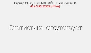 Сервер Minecraft СЕГОДНЯ БЫЛ ВАЙП HYPERWORLD