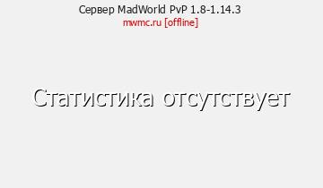 Сервер Minecraft MadWorld PvP 1.8-1.14.3