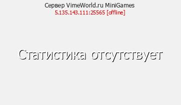 Сервер Minecraft VimeWorld.ru MiniGames