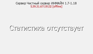 Сервер Minecraft Честный сервер ИНМАЙН 1.7-1.16