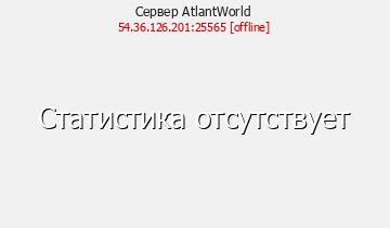 Сервер Minecraft AtlantWorld RP