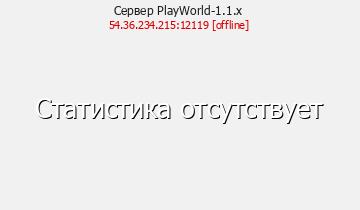 Сервер Minecraft PlayWorld-1.1.x
