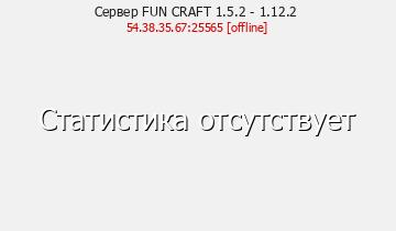 Сервер Minecraft FUN CRAFT 1.5.2 - 1.12.2