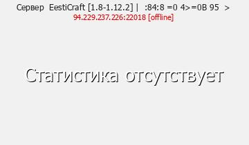 Сервер Minecraft EestiCraftt