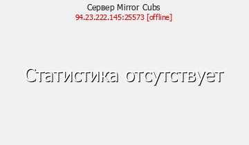 Статистика Сервера Mirror Cubs