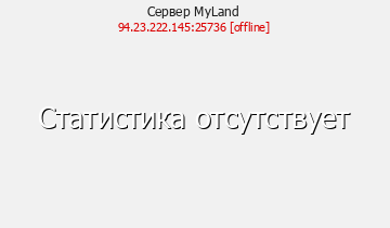 Статистика Сервера MyLand