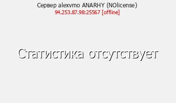 Сервер Minecraft alexvmo ANARHY (NOlicense)