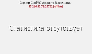 Сервер Minecraft CoolMC Анархия-Выживание